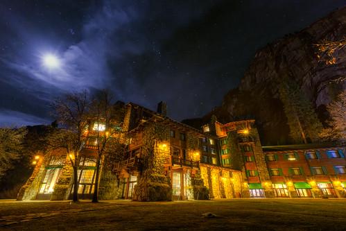 Yosemite - Moonlite Ahwahnee   by Jeff Krause Photography