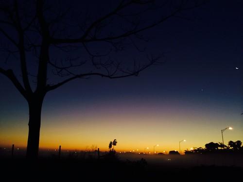 morning moon silhouette fog sunrise venus foggy miramarculturalcenter|artspark