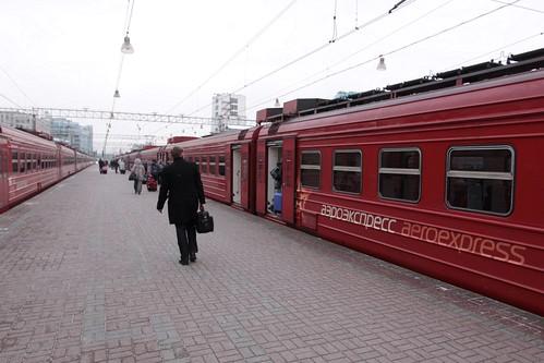 Aeroexpress type ЭД4М EMU at Paveletsky railway station