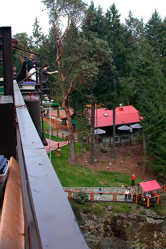 Bungy Jumping in Nanaimo, Vancouver Island, British Columbia, Canada
