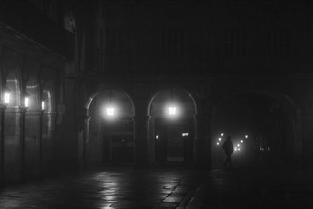 Fog in Plaza Mayor