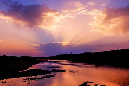 reflection portugal water sunrise river alentejo guadiana elvas ajuda