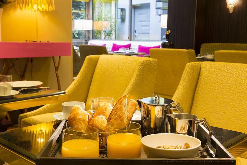 Le petit-déjeuner à l'Hôtel Baume **** Paris