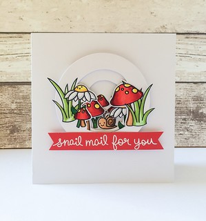 Snail mail Invertage. Tunnel card type technique using #lawnfawn #gleefulgardenstamps | by Kezzie B