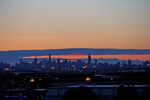 new york city newyorkcity red clouds sunrise liberty airport international cloudsandsky sunrisephotography sunriseovernewyork sunrisemanhattanyellowlight shadowsnewark