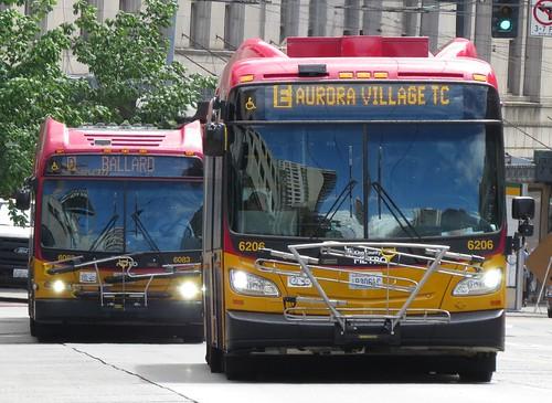 King County Metro RapidRide 2015 New Flyer XDE60 6206