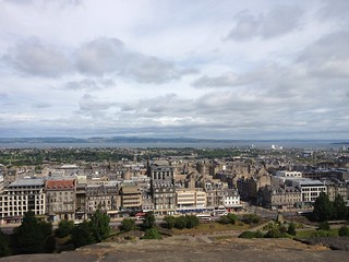 Edinburgh New Town and the Firth of Forth from Edinburgh Castle | by Texarchivist
