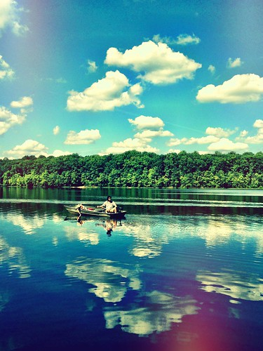 camera summer lake water clouds reflections boat candid father son diana va memory dcist burkelake hcs iphoneography flipmode79
