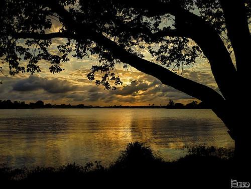 sunset lake silhouette hdr osborne photomatix