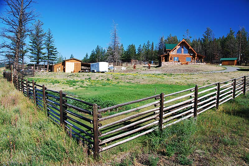 Farmhouse in Riske Creek, Chilcotin, British Columbia