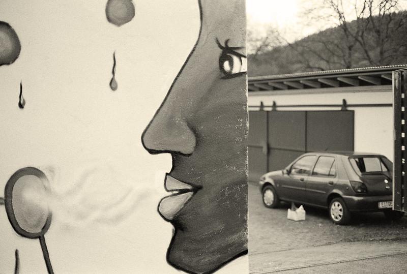 Eichstätt / Oberbayern: mural and car