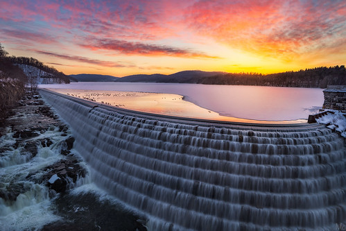 longexposure travel winter light sky snow ny newyork cold color reflection ice water metal sunrise print landscape outdoors photography photo waterfall scenery gallery image cloudy dam fineart stock scenic picture reservoir canvas license cascade newcrotondam crotononthehudson mikeorso
