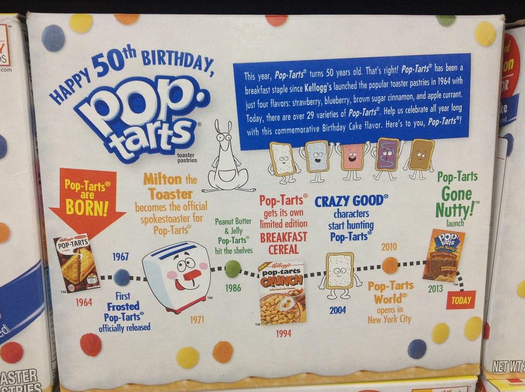 Wondrous Pop Tarts Birthday Cake 50 Years Pop Tart 50Th Birthday S Flickr Funny Birthday Cards Online Aeocydamsfinfo