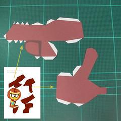 วิธีทำโมเดลกระดาษตุ้กตาคุกกี้รัน คุกกี้รสฮีโร่ (LINE Cookie Run Hero Cookie Papercraft Model) 011
