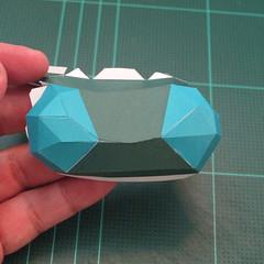 วิธีทำโมเดลกระดาษตุ้กตาคุกกี้รัน คุกกี้รสสตอเบอรี่ (LINE Cookie Run Strawberry Cookie Papercraft Model) 027