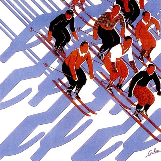 Skiing in Switzerland 1933