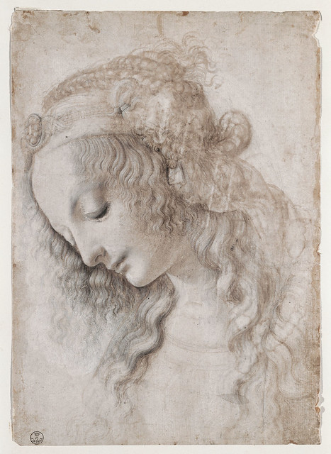 Leonardo - Head of woman (perhaps Mary Magdalene)