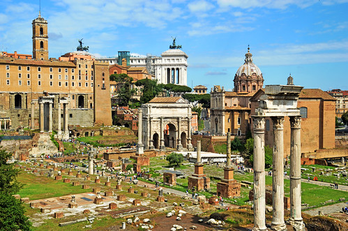 Looking towards the Arch of Septimus Severus | by Michael Gaylard