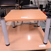 Beech low square coffee table
