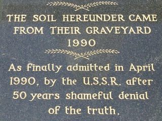 Katyn memorial in Gunnersbury Cemetery
