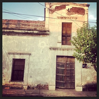"Old colonial hacienda ""zaguan"" entrance, Banamichi, Sonora, Mexico 