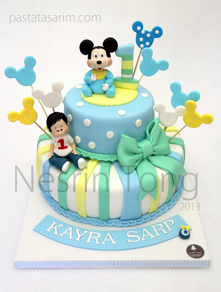 Brilliant Baby Mickey Mouse Cake Cake By Nesrin Tong Flickr Personalised Birthday Cards Sponlily Jamesorg
