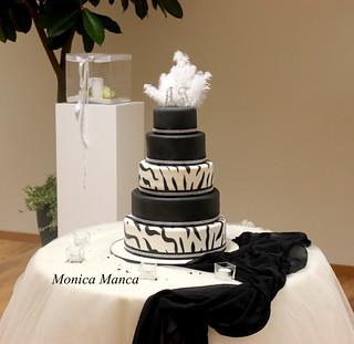 Zebra Wedding cake   by MonicaManca cakes