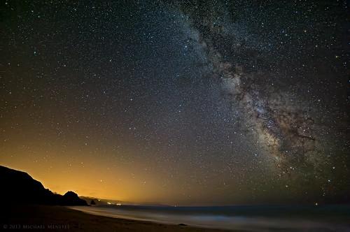 ocean sanfrancisco california ca sky nature night stars landscape evening nikon pacific astrophotography astronomy starry bodegabay lightpollution milkyway mw starscape widefield d700