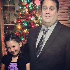 First father/daughter dance. She even gets to wear Mom's grown up earrings. I wonder if they will actually dance...
