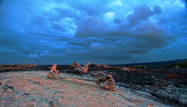 Fernandina Island, Galapagos, Sunset