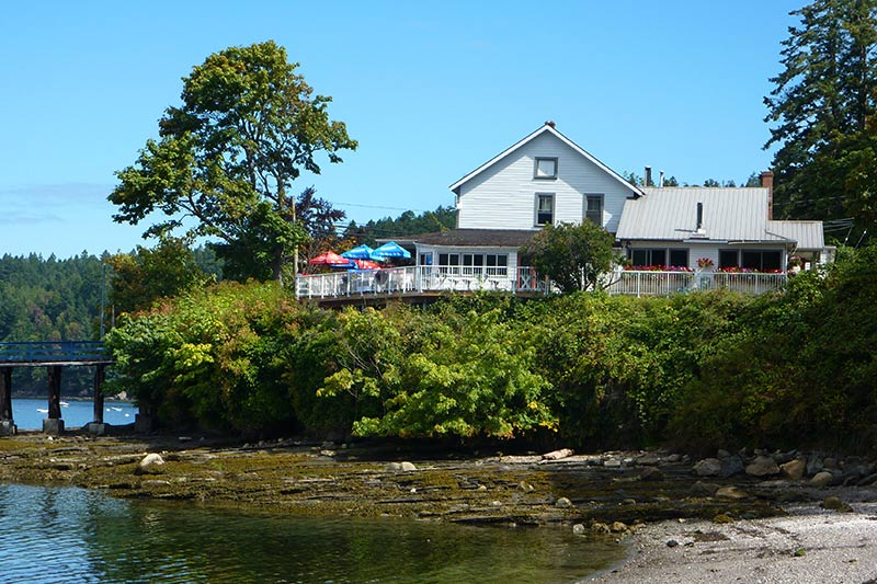 Springwater Lodge, Miners Bay on Mayne Island, Southern Gulf Islands, British Columbia