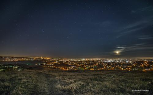 california moon fog set stars vallejo carquinezbridge sanpablobay 14mm benica rokinon ericduganphotography