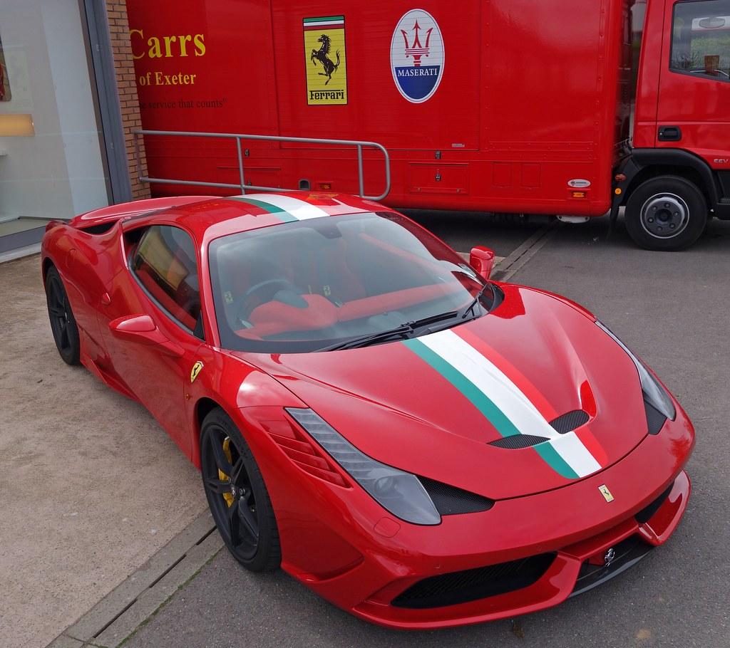 Ferrari 458 Speciale With Italia Stripe Czd72 Flickr