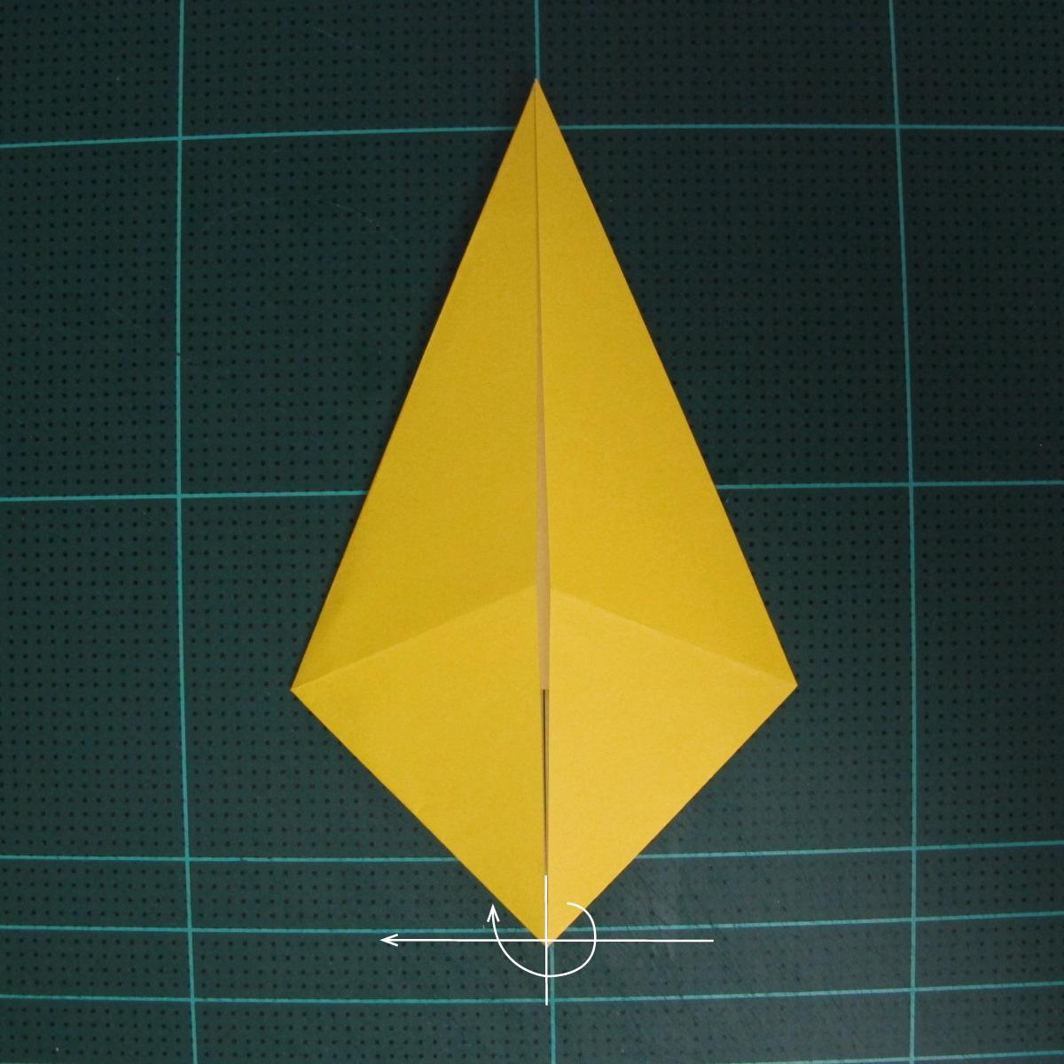 การพับกระดาษเป็นรูปไก่ (Origami Rooster) 001