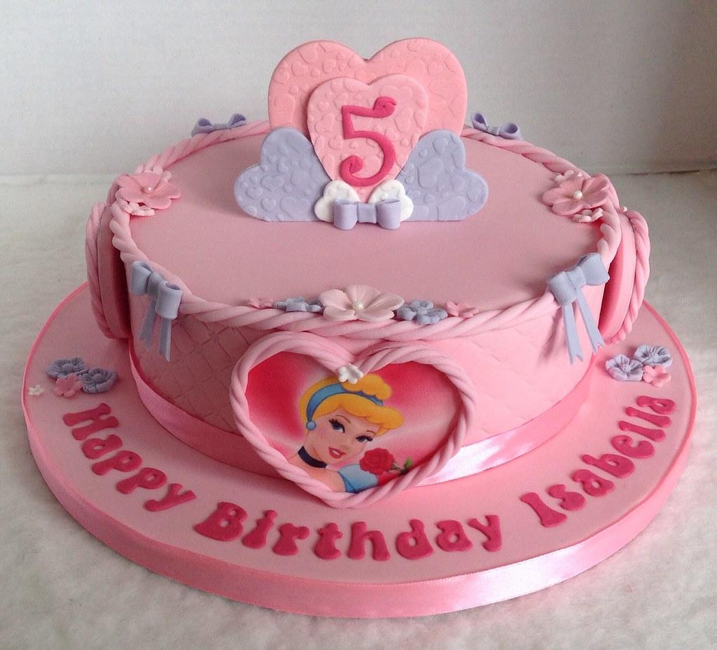Astonishing Disney Princess Birthday Cake Liz Flickr Personalised Birthday Cards Veneteletsinfo
