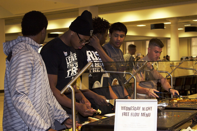 Chow with Aggie Football Players