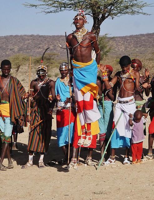 Samburu Man Jumping