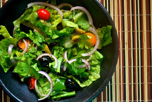 Green Salad with Grapes, Cherry Tomatoes, Onions and Mustard - Balsamic Vinaigrette | by ashmita_s