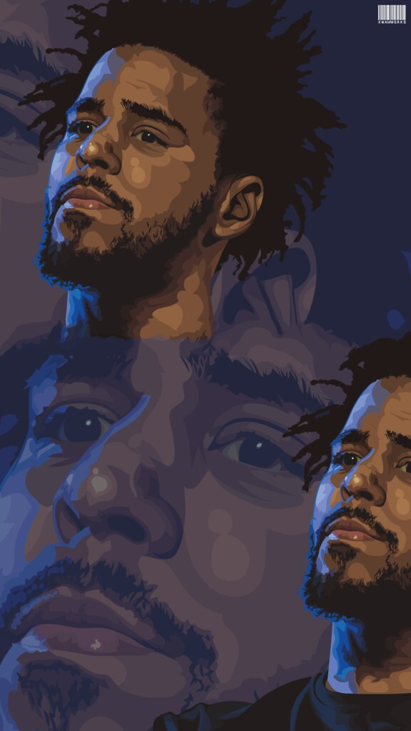 J. Cole , Face iPhone Wallpaper