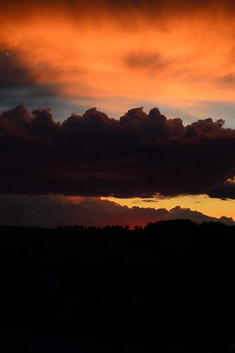 sunset cloud sun storm dark sonnenuntergang wolken sonne gewitter dunkel waldviertel