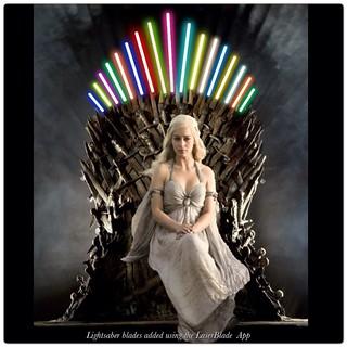 Daenerys Targaryens lightsaber throne