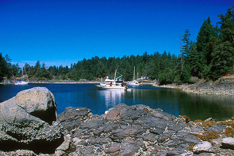 Smuggler Cove Marine Park, Secret Cove, Sechelt Peninsula, Sunshine Coast, British Columbia, Canada