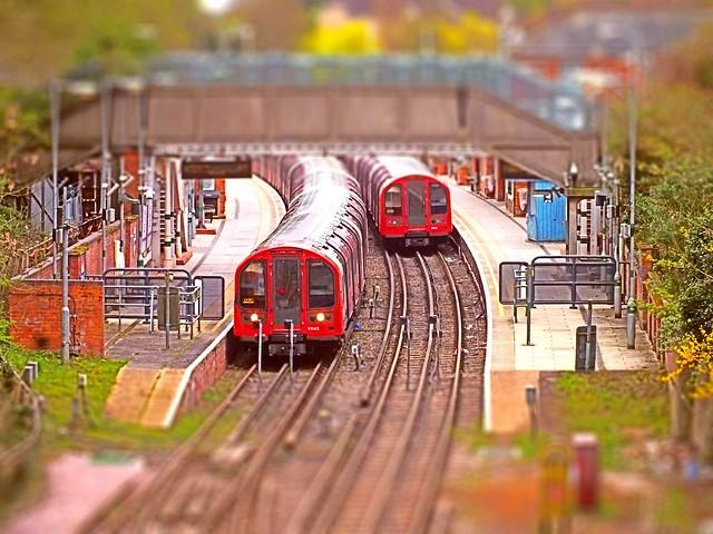 It's a model Tube Station at Epping. 06 04 2014 tiltshift