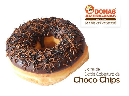 Dona de Doble Cobertura de Choco Chips   by donas_americanas