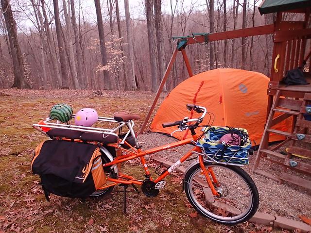 backyard bike camping
