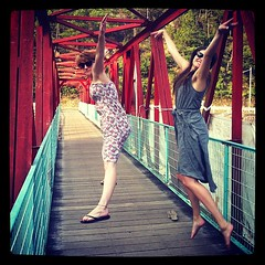 Jumping on bridges with @bronwynclark and @ejkohse