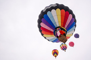 Five hot air balloons   by m01229