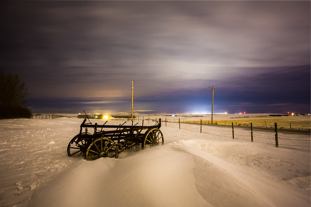 Old Wagon on a Cold February Night - Surviving the Arctic Vortex