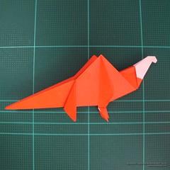 วิธีการพับกระดาษเป็นรูปไดโนเสาร์ (Origami Dinosaur) 027