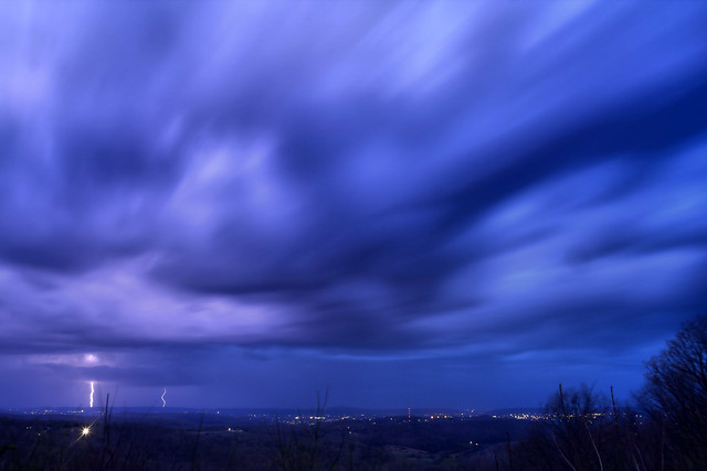 Lightning storm from Sunset Rock, White County, Tennessee 3